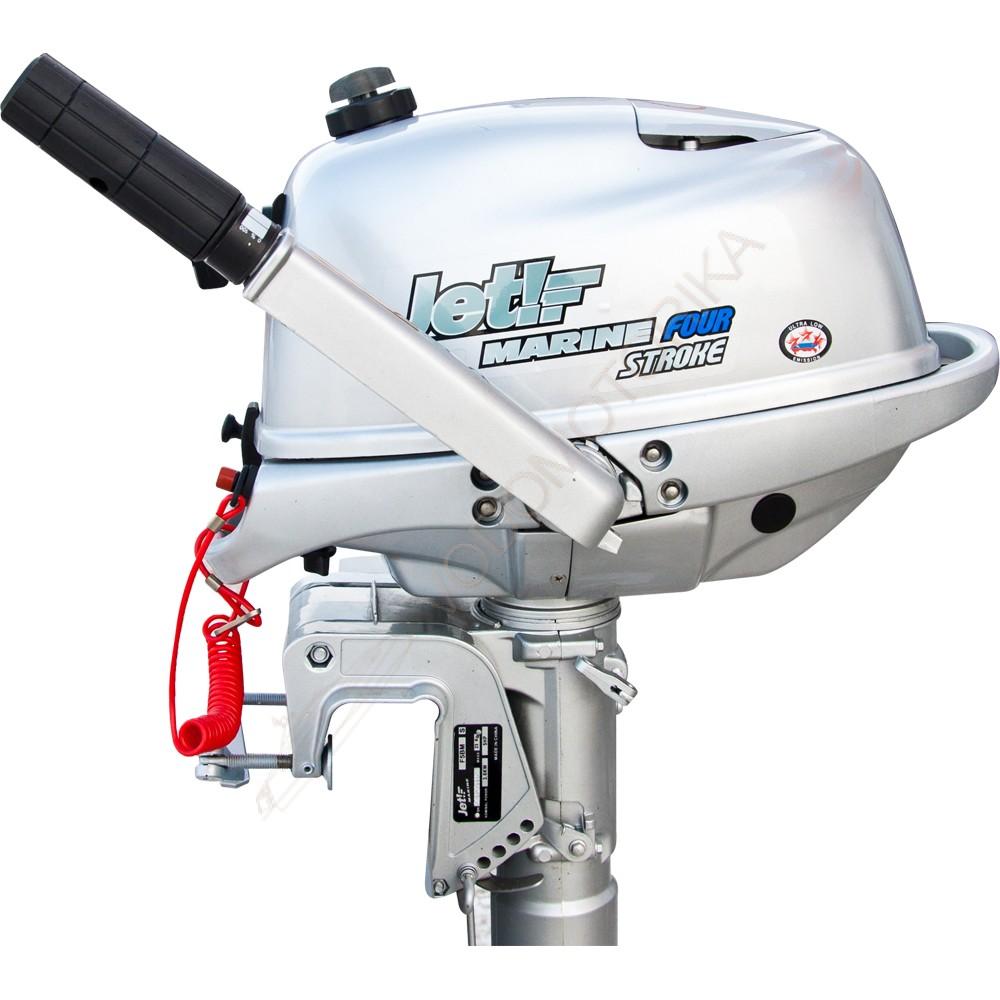 двухтактном лодочном моторе джет